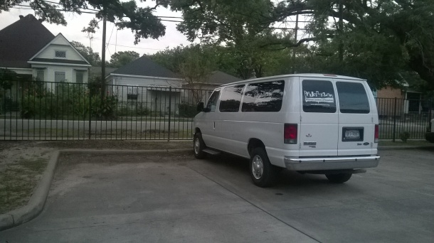 one of the Mission Centers of Houston's Vans. I'm a driver.